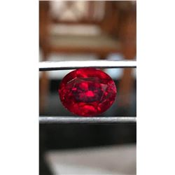 Natural Untreated Vivid Red Ruby 6.63 Cts - Loupe Clean