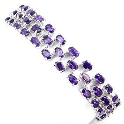 Natural  AAA Intense Purple Amethyst 103 Cts Bracelet