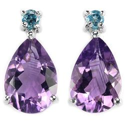 Natural PURPLE AMETHYST TOPAZ Earrings