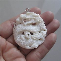 Hand Carved Dragon Pendant
