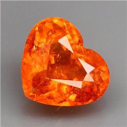 Natural Orange Spessartite Heart 1.50 Carats