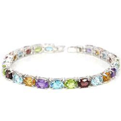 Natural Multi Gemstones 82 Carats Bracelet