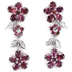 NATURAL PURPLISH PINK RHODOLITE GARNET Earrings