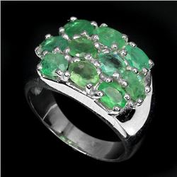 Natural Oval Green Emerald 27 Cts Ring