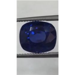 Natural Royal Blue Burma Sapphire Untreated - Gubelin