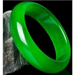Chinese Green Jade Bangle