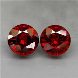 Natural Red Spessartite Garnet Pair  2.00 Ct.