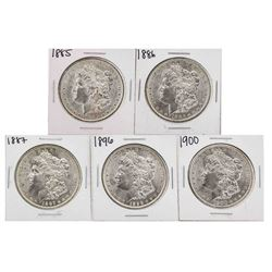 Lot of (5) Assorted Date $1 Morgan Silver Dollar Coins