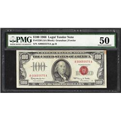 1966 $100 Legal Tender Note Fr.1550 PMG About Uncirculated 50