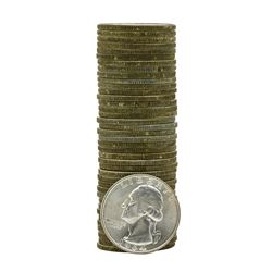 Roll of (40) 1964-D Brilliant Uncirculated Washington Quarters