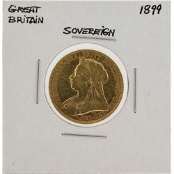 1899 Great Britain Sovereign Gold Coin