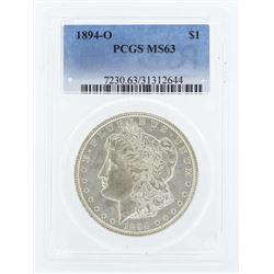 1894-O $1 Morgan Silver Dollar Coin PCGS MS63