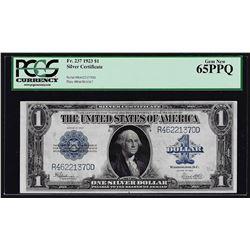 1923 $1 Silver Certificate Note Fr.237 PCGS Gem New 65PPQ