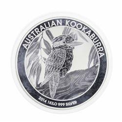 2014 $30 Australian Kookaburra 1 Kilo Silver Coin