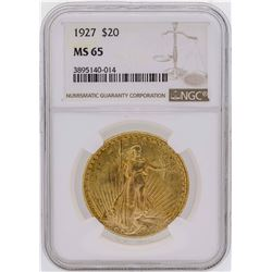 1927 $20 Saint Gaudens Double Eagle Gold Coin NGC MS65