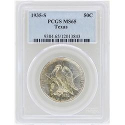 1935-S Texas Commemorative Half Dollar Coin PCGS MS65
