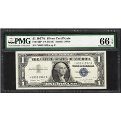 1957A $1 Silver Certificate STAR Note Fr.1620* PMG Gem Uncirculated 66EPQ