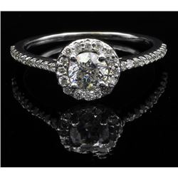 14KT White Gold 0.63 ctw Natural Diamond Solitaire Engagement Ring
