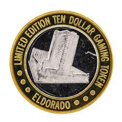 .999 Silver El Dorado Hotel & Casino Reno, Nevada $10 Limited Edition Gaming Tok