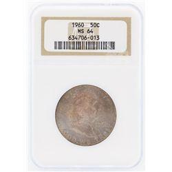 1960 Franklin Half Dollar Coin NGC MS64