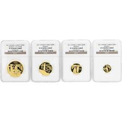 2011 Natura South Africa Gold (4) Coin Set NGC PF70 Ultra Cameo