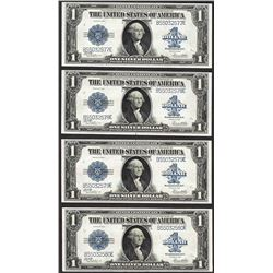 Cut Sheet of (4) 1923 $1 Silver Certificate Notes