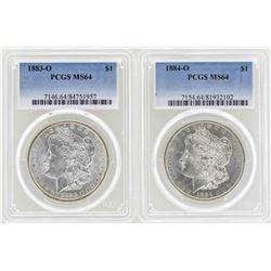 1883-O to 1884-O $1 Morgan Silver Dollar Coins NGC MS64