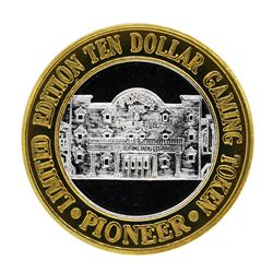 .999 Silver Pioneer Hotel & Gambling Hall $10 Casino Limited Edition Gaming Toke