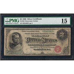 1886 $2 Silver Certificate Note Fr.240 PMG Choice Fine 15