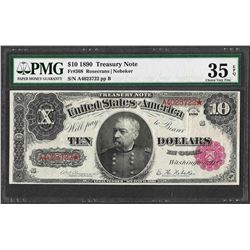 1890 $10 Treasury Note Fr.368 PMG Choice Very Fine 35EPQ