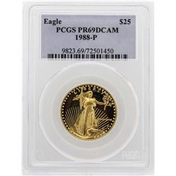 1988-P $25 American Gold Eagle Proof Coin PCGS PR69DCAM