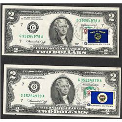 Lot of (2) 1976 Federal Reserve Notes