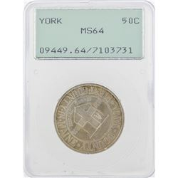 1936 York County, Maine Tercentenary Commemorative Half Dollar Coin PCGS MS64