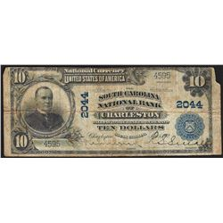 1902 $10 South Carolina National Bank of Charleston Currency Note CH#2044