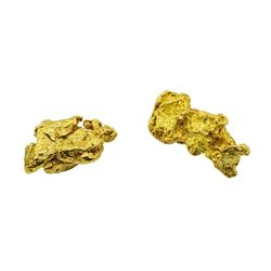 Lot of (2) Gold Nuggets 1.9 grams Total Weight