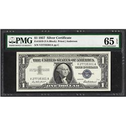 1957 $1 Silver Certificate Note Fr.1619 PMG Gem Uncirculated 65EPQ