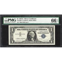 1957A $1 Silver Certificate STAR Note Fr.1620* PMG Gem Uncirculated 66EPQ
