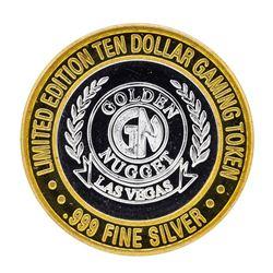 .999 Silver Golden Nugget Las Vegas, NV $10 Casino Limited Edition Gaming Token