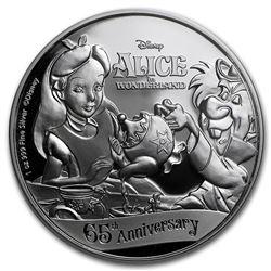 2016 $2 Disney Alice In Wonderland .999 Fine Silver Proof Coin