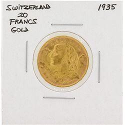 1935 Switzerland 20 Francs Gold Coin