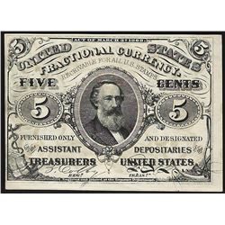 March 3, 1863 Five Cents Third Issue Fractional Note