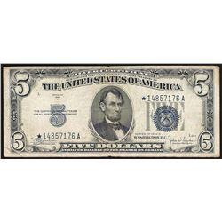 1934C $5 Silver Certificate STAR Note