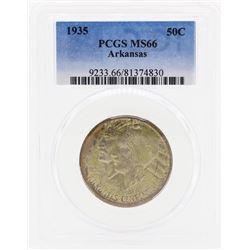 1935 Arkansas Commemorative Half Dollar Coin PCGS MS66