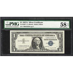 1957A $1 Silver Certificate STAR Note Fr.1620* PMG Choice About Uncirculated 58E