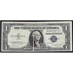 1935G $1 Silver Certificate Note ERROR Gutter Fold