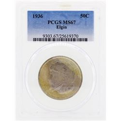 1936 Elgin Commemorative Half Dollar Coin PCGS MS67