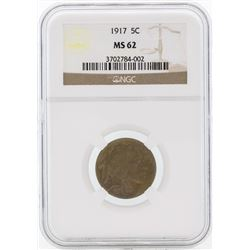1917 Buffalo Nickel Coin NGC MS62