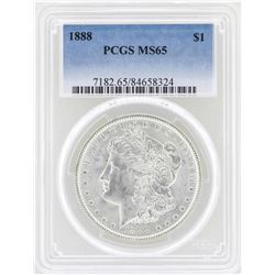 1888 $1 Morgan Silver Dollar Coin PCGS MS65