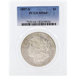 1897-S $1 Morgan Silver Dollar Coin PCGS MS64+