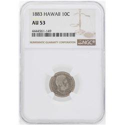 1883 Kingdom of Hawaii Dime Coin NGC AU53
